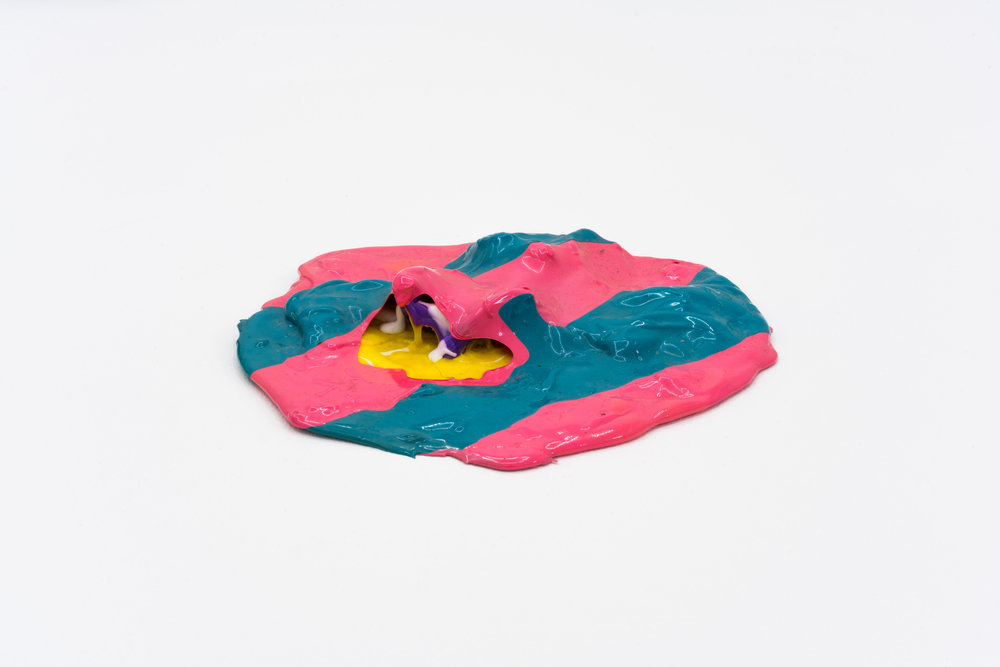 Remko Scha,  Plastic Meltdown , 1962-1992, Plastic, 3 x 19 x 20 cm