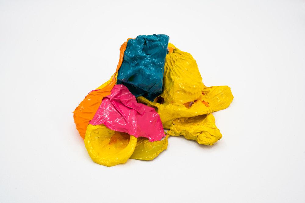 Remko Scha,  Plastic Meltdown , 1962-1992, Plastic, 13 x 25 x 17 cm