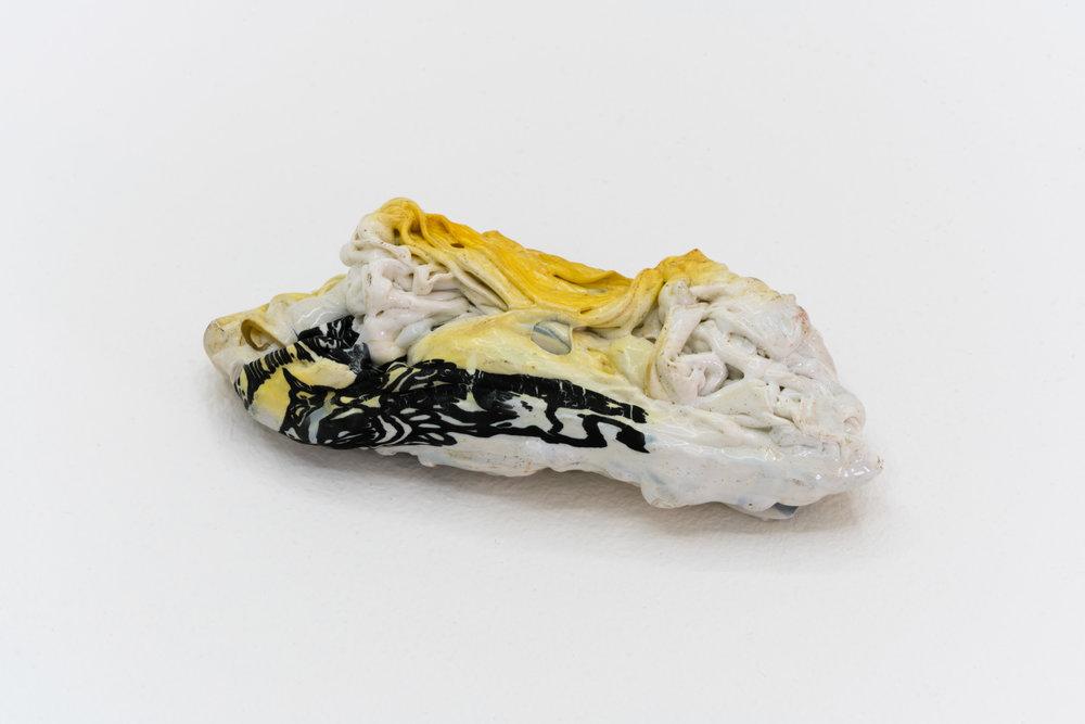 Remko Scha,  Plastic Meltdown , 1962-1992, Plastic, 3 x 10 x 4 cm