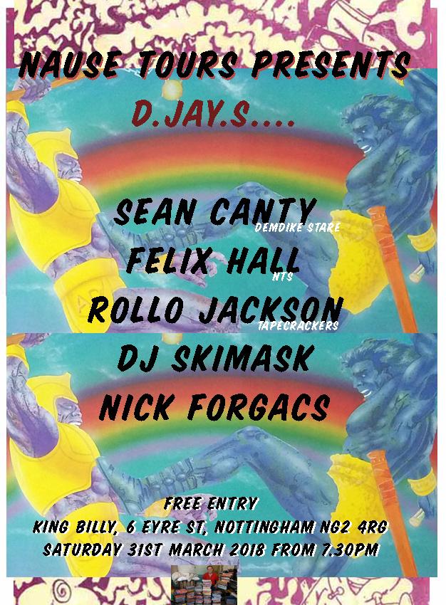 TG gallery Sean Canty Demdike Stare Felix Hall NTS Rollo Jackson DJ Skimask Nick Forgacs