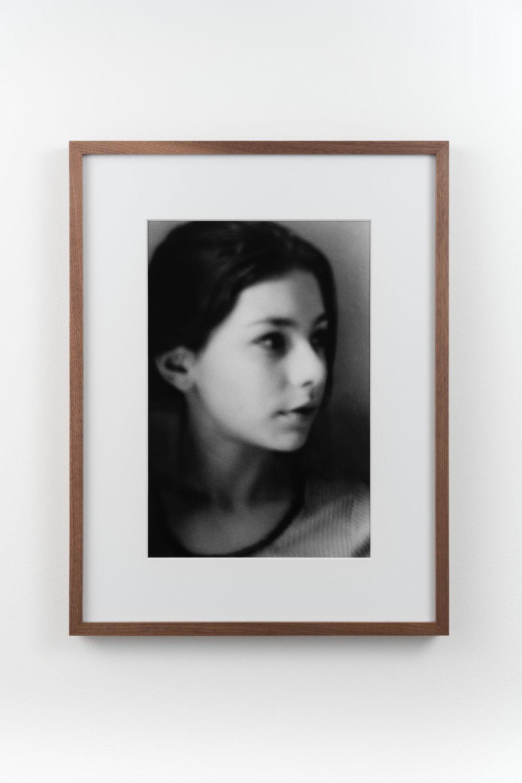Siggie 1 , 1996/2018 Hand-printed silver gelatin print 32.8 x 21.8 cm (47.4 x 36.4 cm framed)