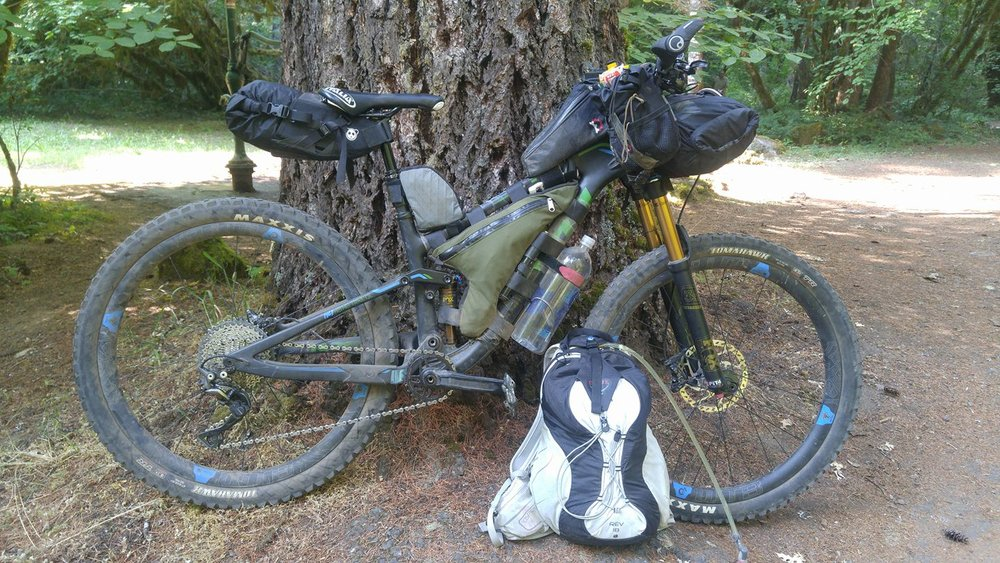 Heather's Kona bikepacking rig
