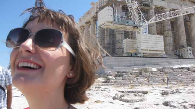 Yeah! I was here. I think the scaffolding on the Parthenon is where they are trying to fix damage from acid rain.