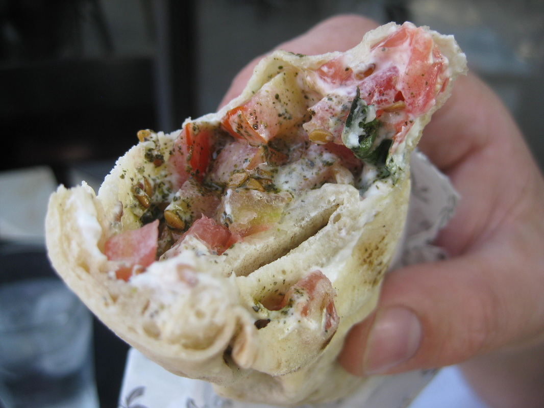 Also from Zamn. I think this is a Lebneh wrap.