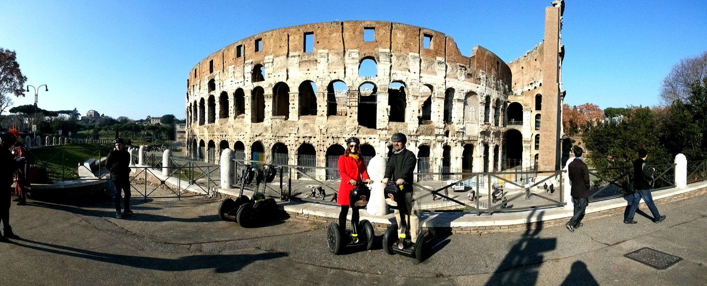 Segway joy at the Colosseum.