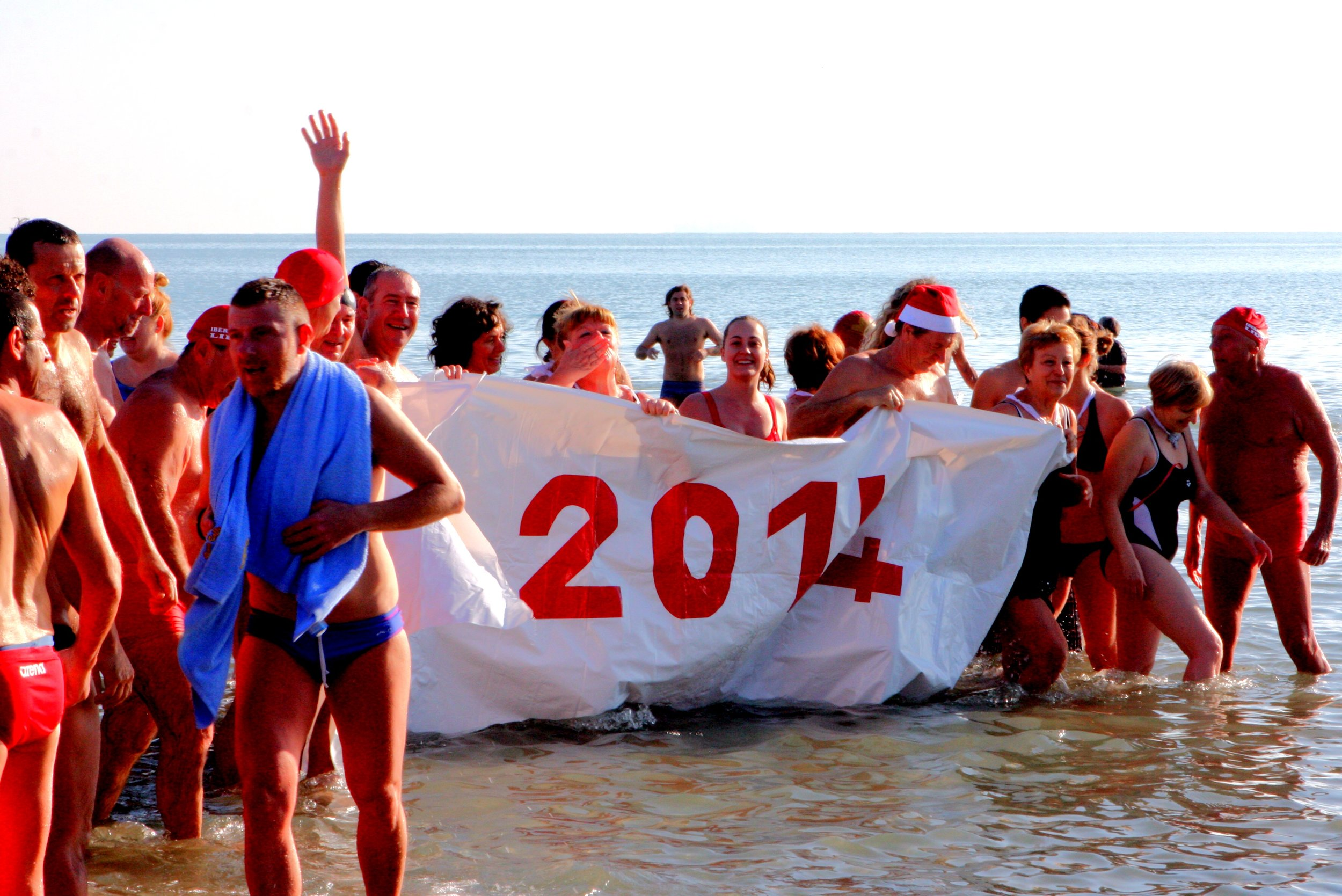 Genevieve New Year Day Lido Beach Adriatic Ocean Swim