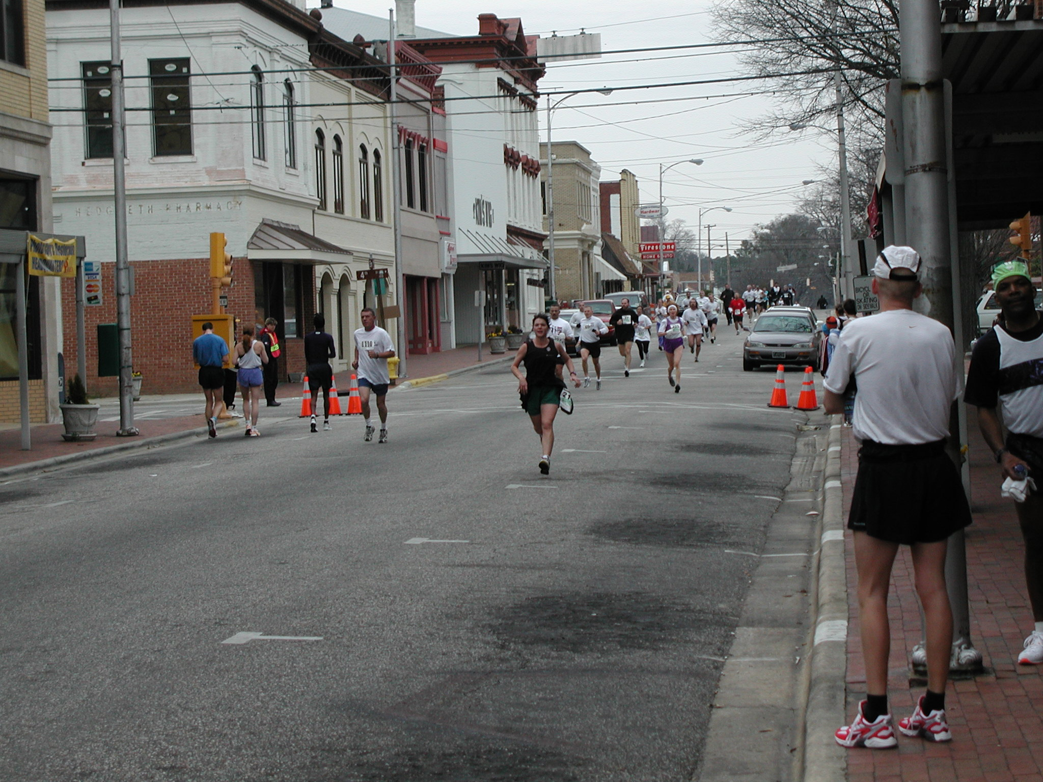 A road race in downtown Lumberton, NC.