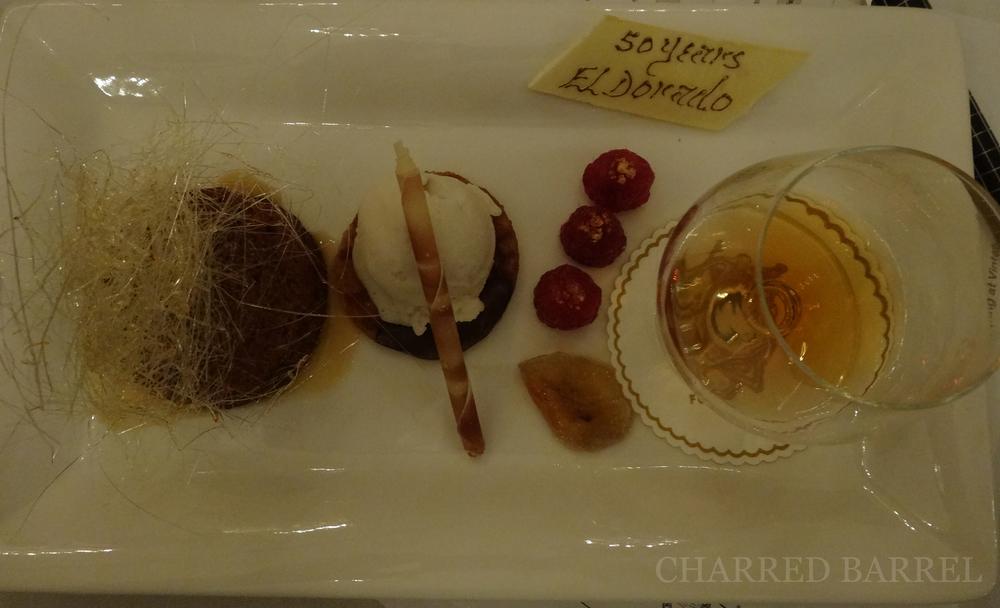 Food pairing with El Dorado 50th Anniversary