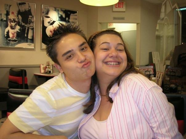 Drew and Andrea at Steak n' Shake in 2004
