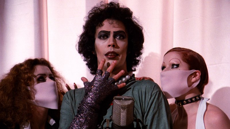 Tim Curry stars as   Dr   Frank  -N-Furte,   the sweet transvestite from Transsexual Transylvania in  The Rocky Horror Picture Show .