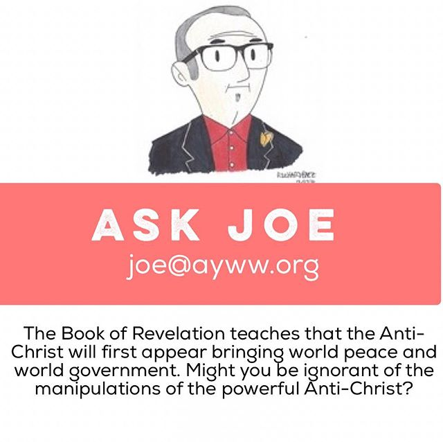 """Amy from Davenport, Iowa was wondering about 2020 AYWW and its affiliation to the devil. Go to http://www.ayww.org/askjoe/ to find out the answer!‬ ‪What question may you have for executive director, Professor Joe White? ‬ ‪Click the blue link or email joe@ayww.org to ask your own!"""