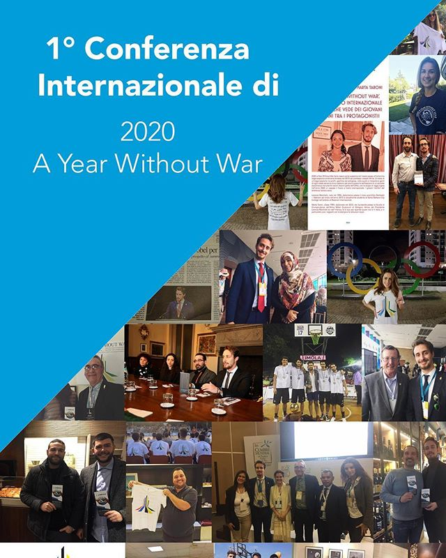 2020 A Year Without War: The First International Conference. 12th January 2018, Imola, Italy. #2020ayearwithoutwar