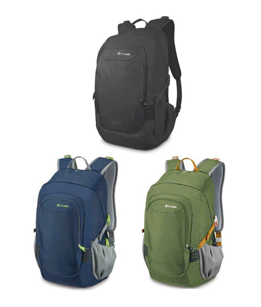 PACSAFE VENTURE SAFE 25L DAY BAGS  Pacsafe's proprietary anti-theft technology means no one will be able to scan your cards, cut your straps or run off with your bag during your adventures.