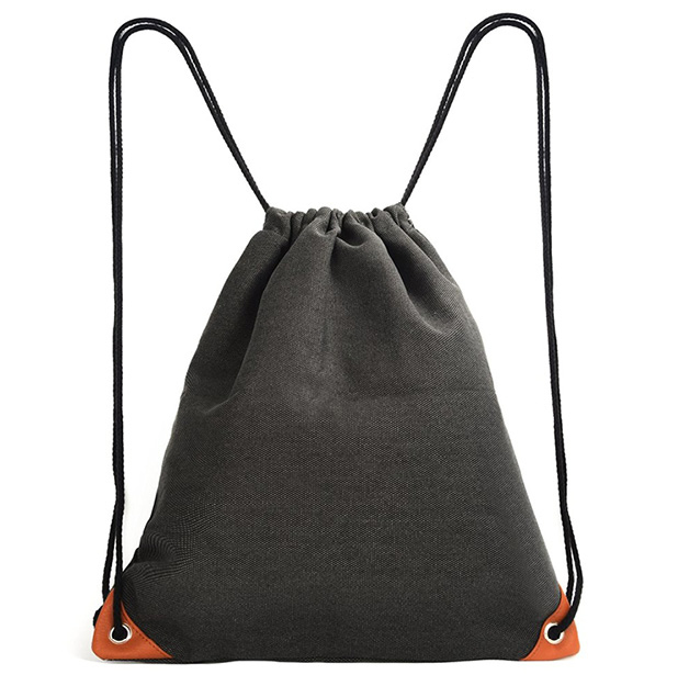 LA REINE DRAWSTRING BAG  When it comes to bags, I like low key and discrete. Great for a trip to the gym, a light, simple day bag, or to carry your laptop without anyone knowing the better.