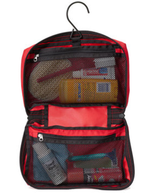 RICK STEVES EUROPE TOILETRY BAG  This spartan toiletry kit is just what I need to carry my toothbrush and paste, a few vitamins, razor, and a bit of styling wax.
