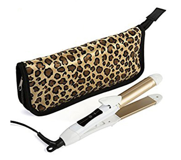 6th SENSE TRAVEL IRON & STRAIGHTENER  This tool doubles as a hair straightener and a curling iron and its dual voltage which means it blow out in European outlets plus its travel sized so it takes up minimal space