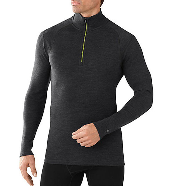 SMARTWOOL LONG UNDERWEAR 1/4 ZIP TOP Smartwool tops the others in comfort and style. Stay toasty all day with thise well-fitting, high quality long underwear made from 100% wool.