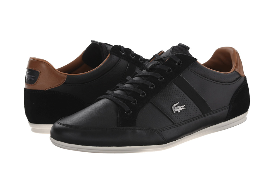 LACOSTE MEN'S CHAYMON SHOES  Nothing suclks worse than getting turned away at the door because your shoes don't fit the part. Go euro with Lacoste to better blend in.