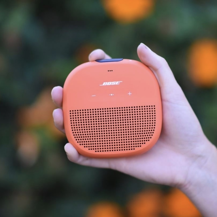 Boses' Soundlink Micro fits in the palm of your hand. Great for traveling! Photo cred, Instagram: @bose