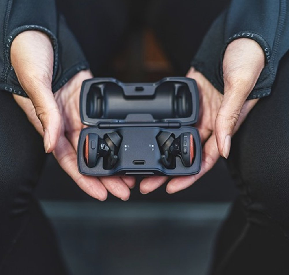 The carrying case also charges the earbuds to 100%. More at Bose.com.