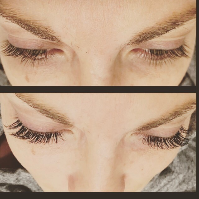 Before & After of regular lashes