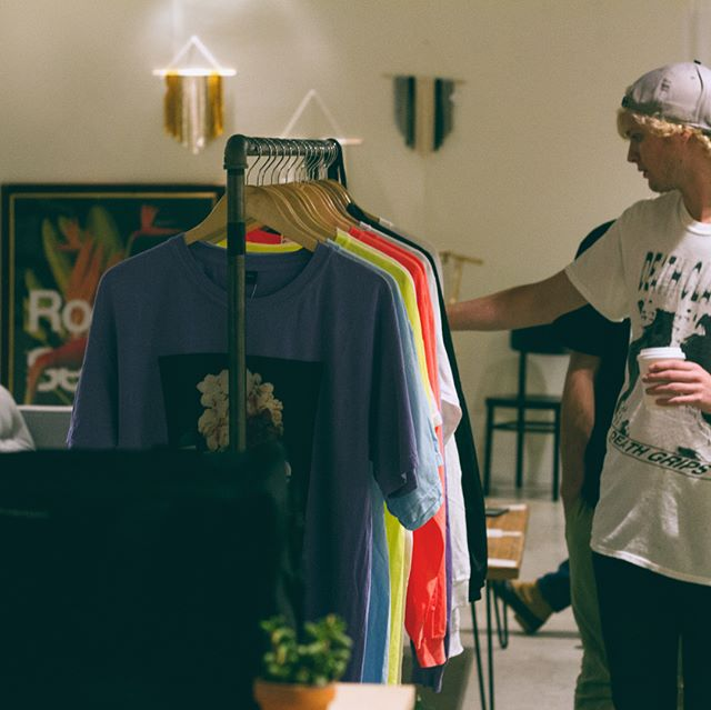 Check out these photos from the Collide Capsule Pop Up we held at @houseofnashville /// Big thanks to @belmont.etp and @boulevardrecordshop for letting us come party through the 🌪 /// New stuff coming soon! #rookieseason #capsulecollection