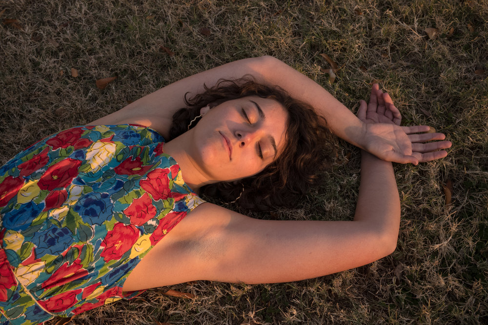 Serenity Settings  is a short series of photographs that follows portraits of Penny Trunzo in three different locations savoring the quiet and relaxing time she has before going back to school.