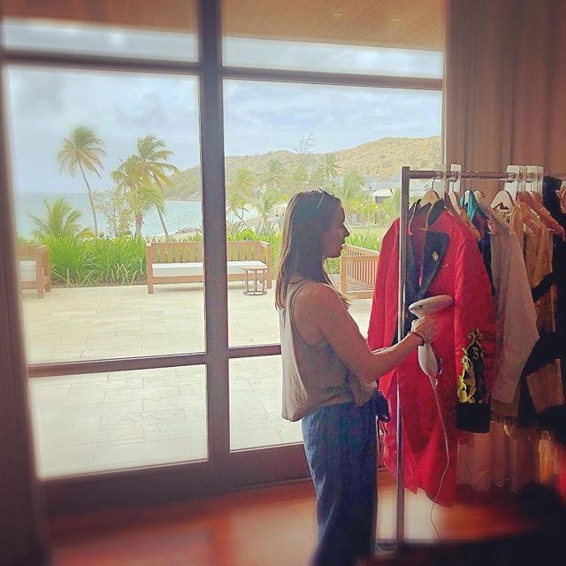 Another day at the office with @avonleacostume in St. Kitts! #whatsyournarrative