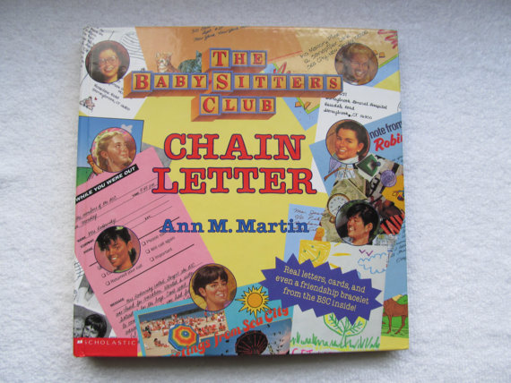 And while we're on the topic, this book which made you feel like you were so special because the letters and friendship bracelets were so real!