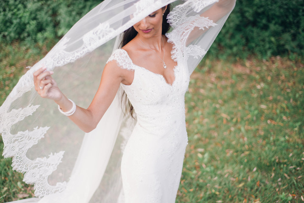 Bridget's veil and ability to look like she stepped off a runway!