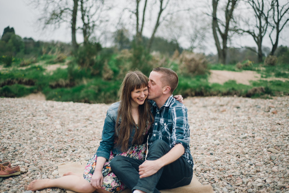 Doing an engagement session in Scotland with the sweetest couple ever!