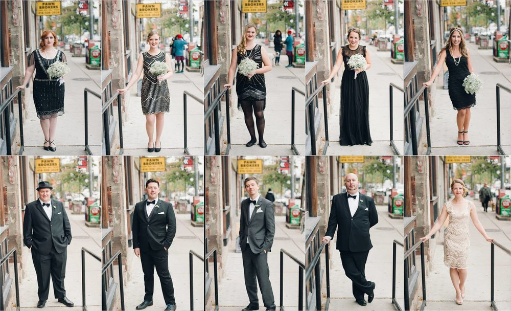 This bridal party that went ALL out for their couple's 1920s Great Gatsby theme!