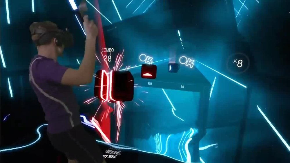 Beat Saber  is a  VR rhythm  game where your goal is to slash the  beats  which perfectly fit into precisely handcrafted music.