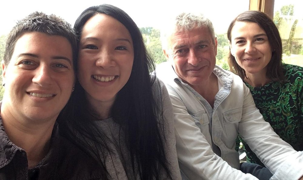 Jenn Weidman, Elaine Pratley (participant), Charles Allen and Tania Miletic at The Eyrie Retreat, Nov '16.