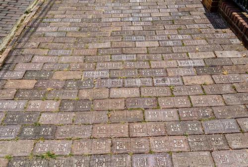 glazed vitrified brick historic pavement