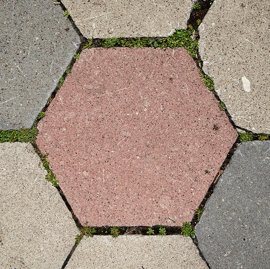 Hexagonal Concrete Pavers
