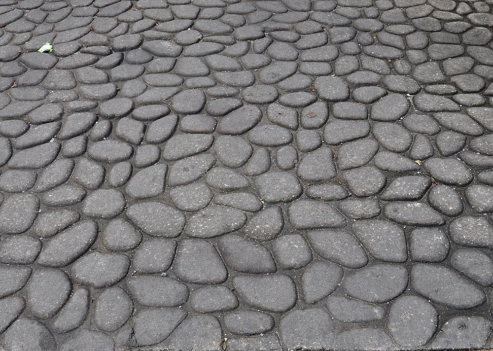 Stemped Concrete -- Cobblestone Pattern
