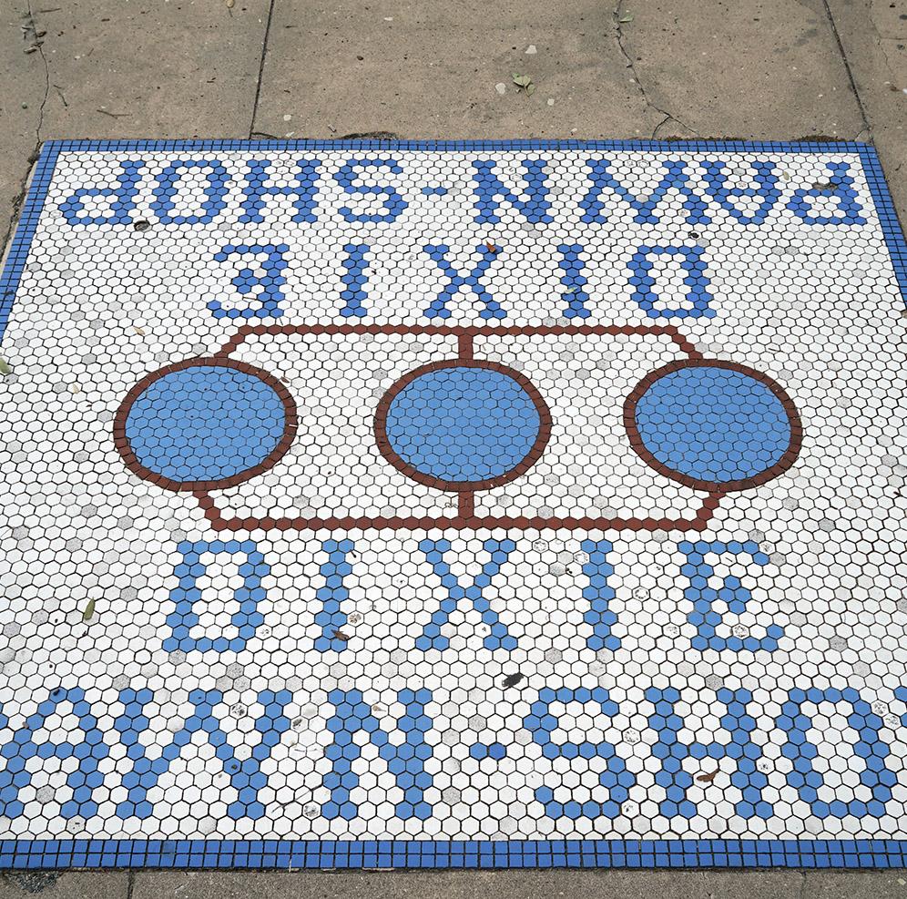 Historic Sidewalk Advertisement