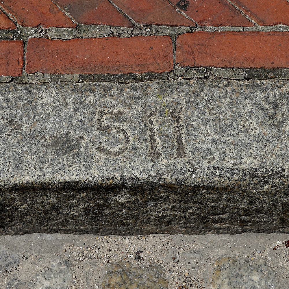 Carved Street Address Number