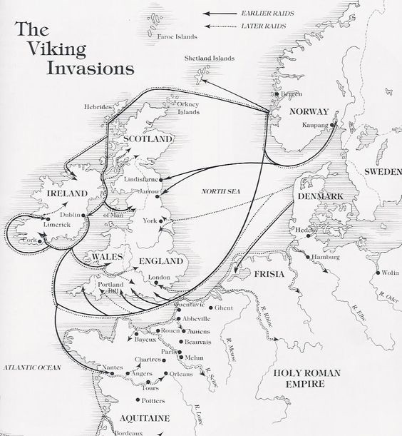 Map of the Viking exspantion in Britain