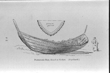 Drawing of the  Nydam Boat .