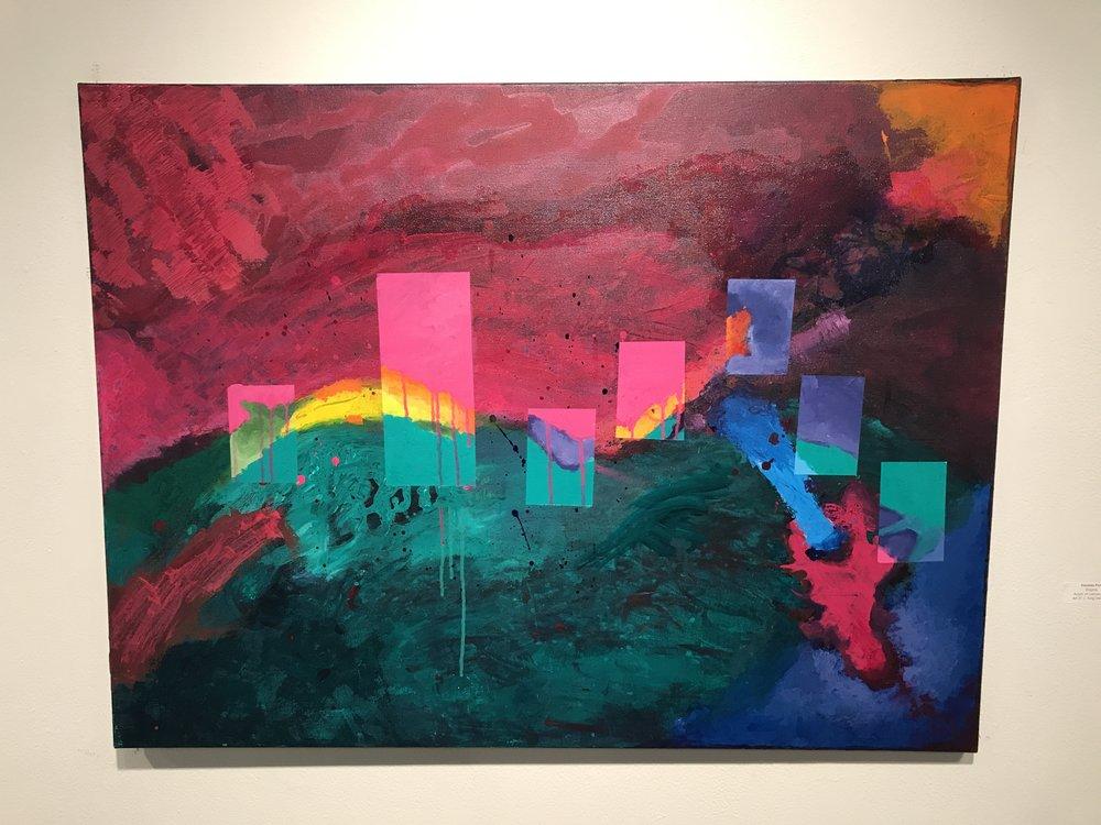 Enigma, Acrylic on canvas, 2017, Osvaldo Perez