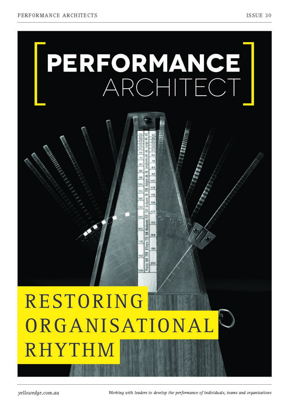 Restoring organisational rhythm