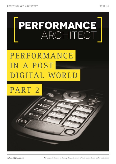 Performance in a post digital world