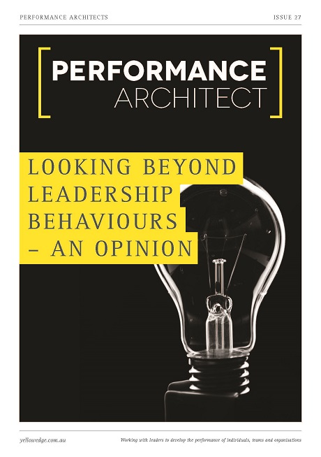 Looking Beyond leadership behaviours