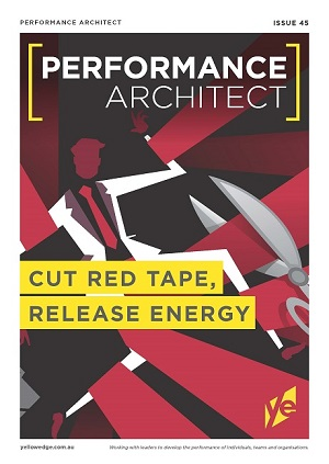 Cut red tape, release energy
