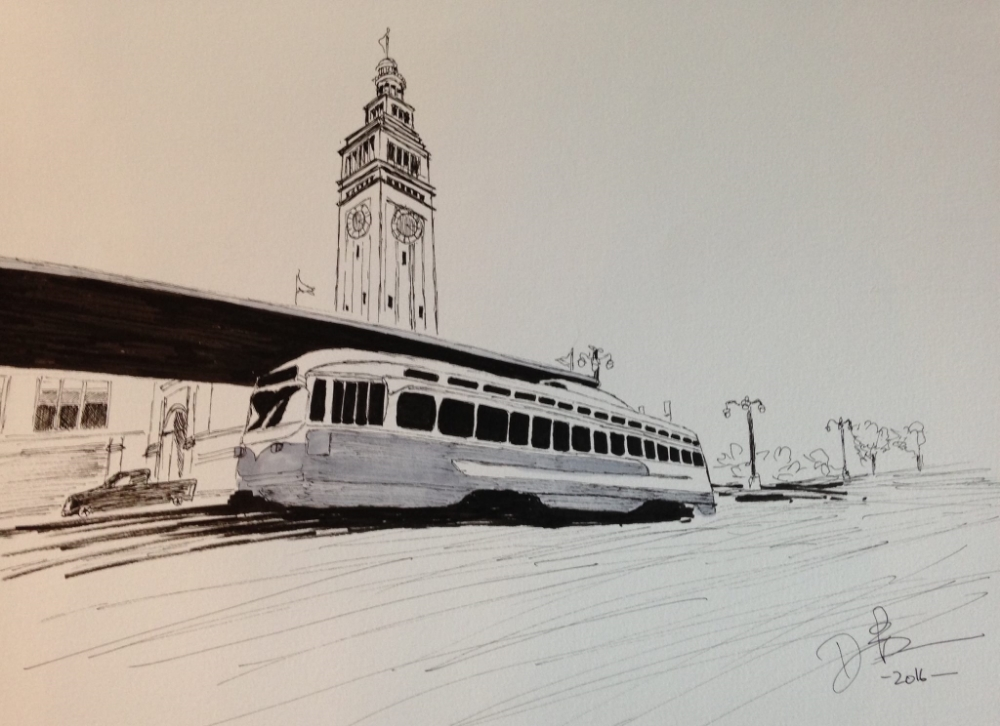 Trolley at Ferry Building