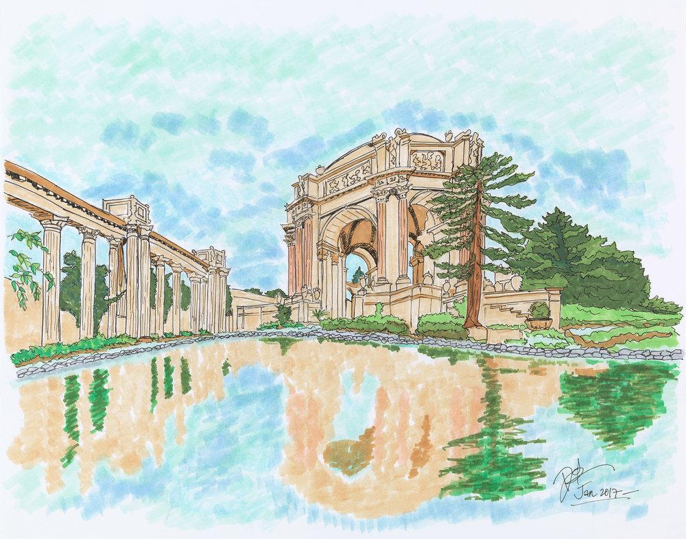 Palace of Fine Arts Reflections
