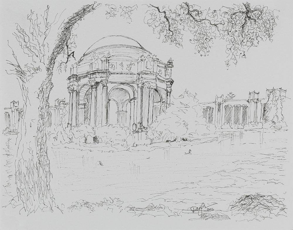 Vista from Tree - Palace of Fine Arts
