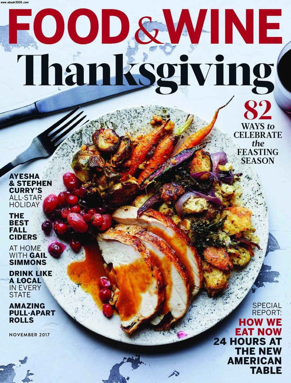So....a thing happened! A BIG THING!  FOOD AND WINE  Magazine released a special report in their Thanksgiving issue that highlighted 24 hours at the New American Table.   BIG NEWS   Dovecote Cafe  was highlighted and so was my delicious Savory Kale Salad recipe that I made exclusively for readers and patrons of our cafe! Super excited to read this issue and so flattered to be amongst some unconventional heavy hitters in the culinary world, like  Ayesha Curry !!!  Click the image below for the recipe or swing by the cafe to have it prepared by one of our amazing chefs!